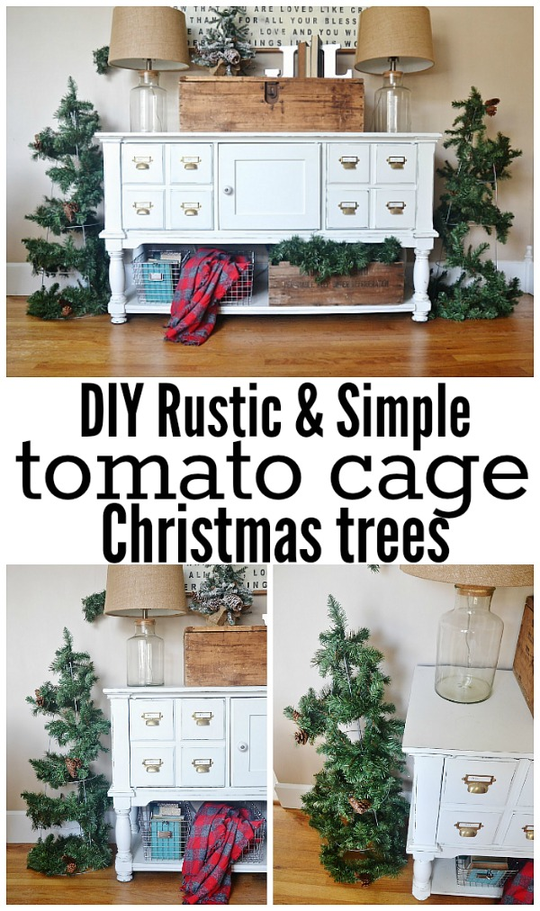 diy rustic tomato cage christmas trees - Tomato Cage Christmas Decorations