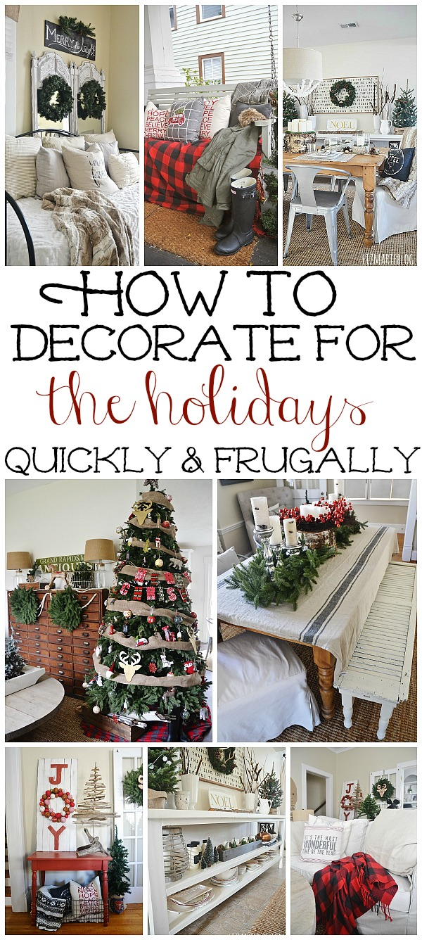 How to decorate your home for christmas - How To Decorate Your Home For Christmas On A Budget Super Fast Tips