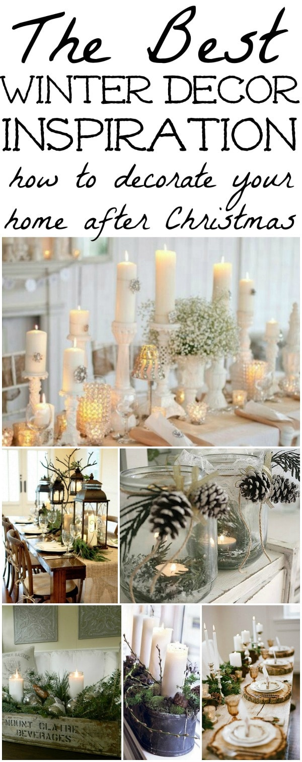 Winter decorations winter table ideas more liz marie blog First home decor pinterest