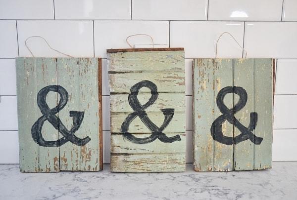 DIY Barn wood scrap art - Simple, Easy, & Free art!!
