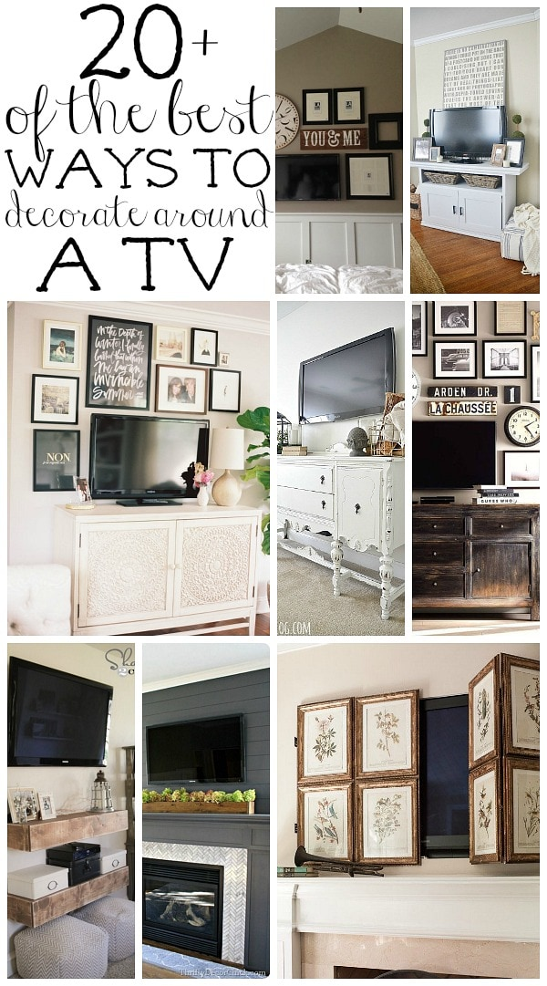 How To Decorate Around A Tv Liz Marie Blog