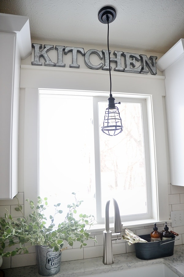 Kitchen Letters For Wall Diy Metal Letter Industrial Kitchen Sign  Liz Marie Blog