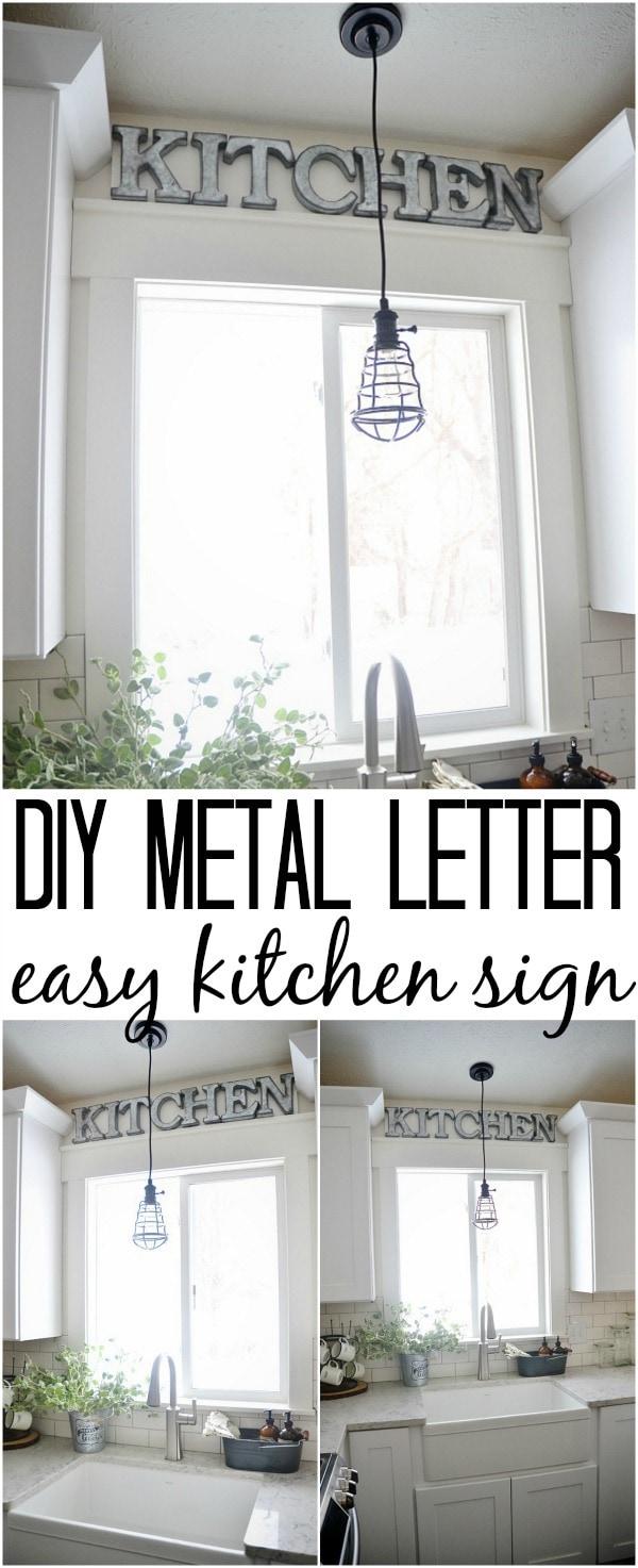 Superbe DIY Metal Letter Industrial Kitchen Sign