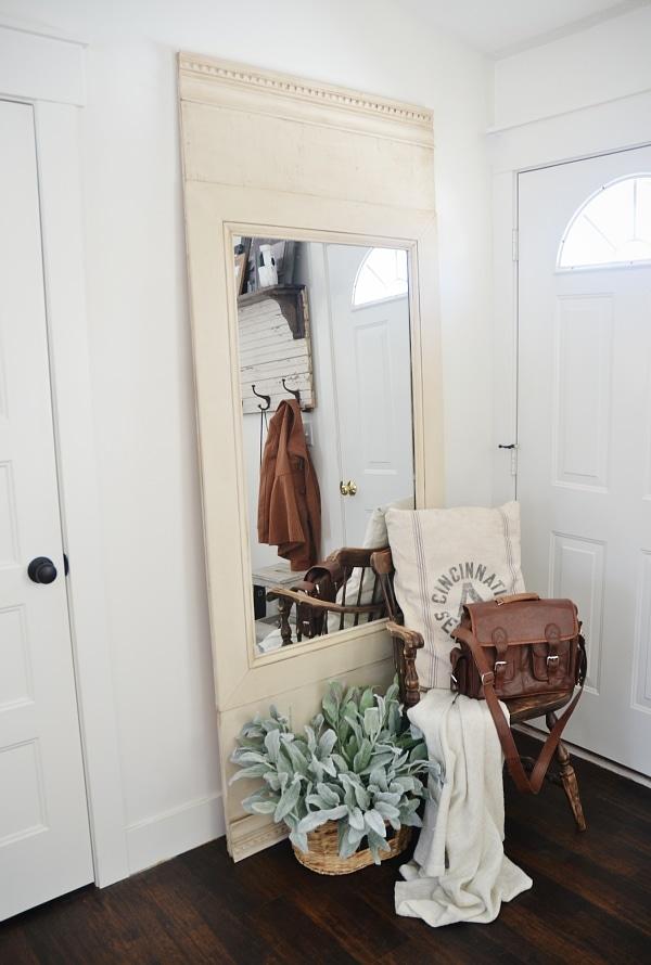 DIY Floor Mirror - Liz Marie Blog