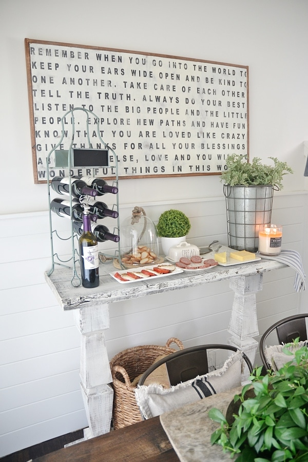 DIY Simple Dining room buffet - See how to make this super simple buffet in a few easy steps. This piece would also make a great DIY entryway table, sofa table, & so much more!