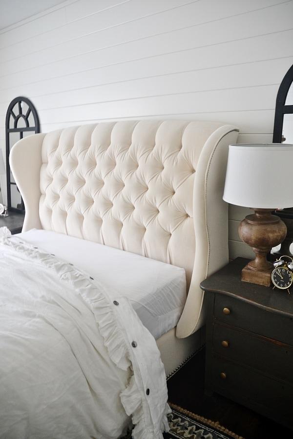 Master Bedroom Makeover Progress: Arhaus Bed - Liz Marie Blog