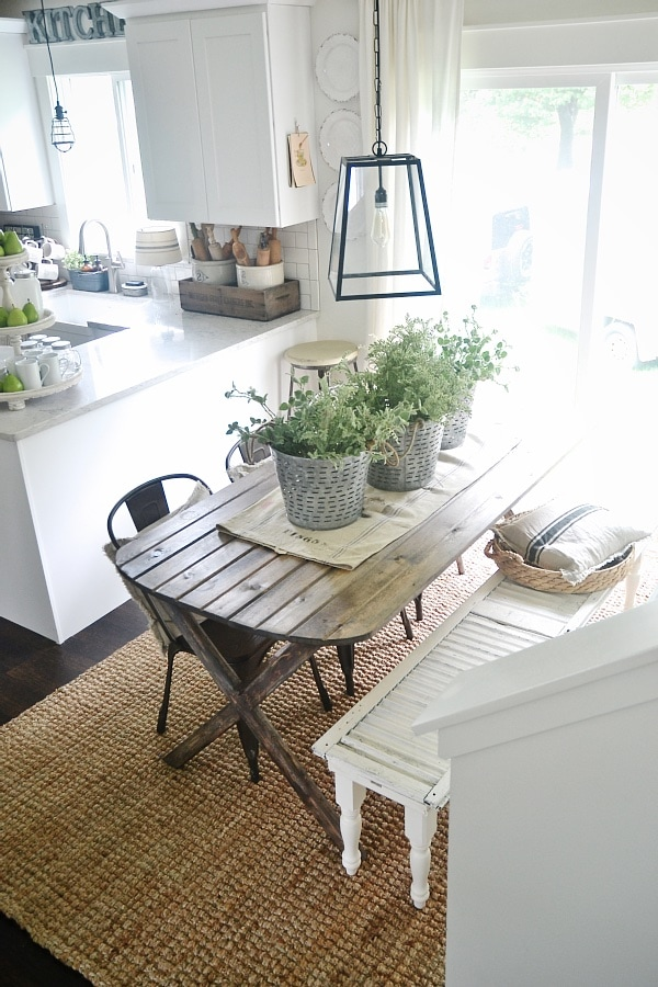 Lovely DIY X Leg Farmhouse Table So simple to make A must