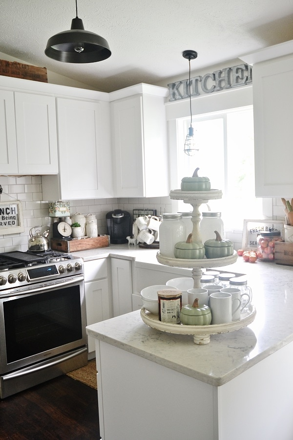 Adventures In Decorating Our 2015 Fall Kitchen: A Thank You & Early Fall Decor