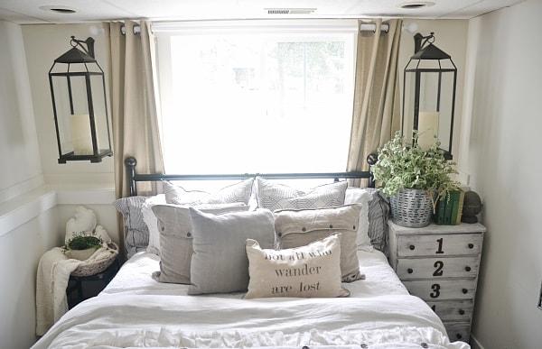Guest Bedroom Makeover Lanterns Liz Marie Blog