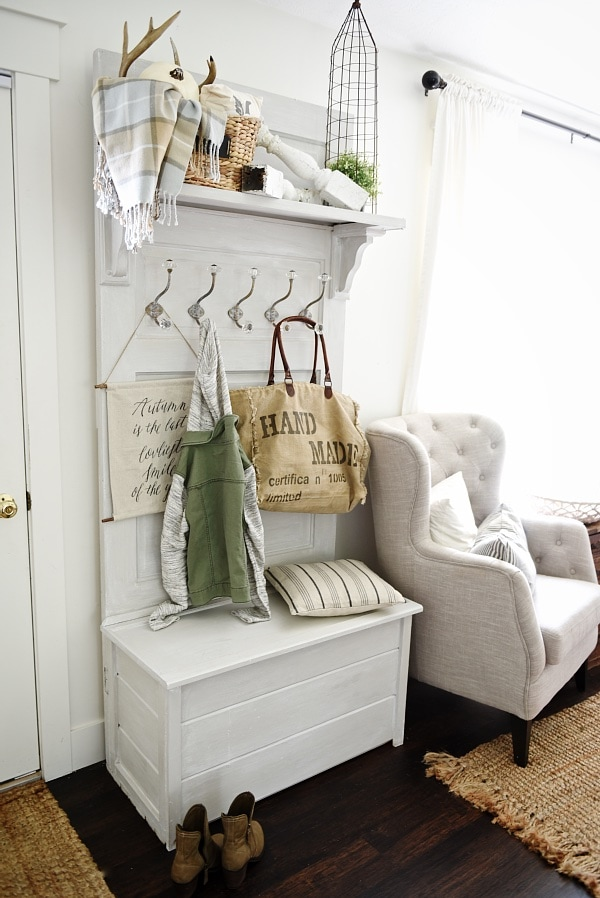 DIY Hall Tree   Made From An Old Door! Such A Simple Build U0026 Great