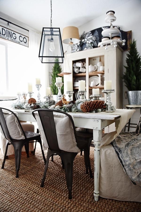 rustic winter woodland christmas dining room - Great rustic christmas & winter decor inspiration .