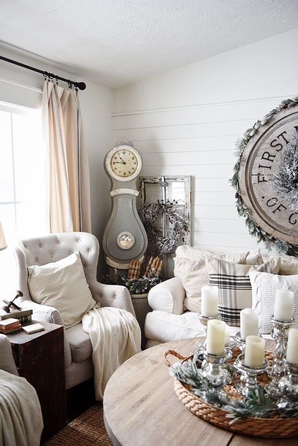 Cozy Rustic Winter Living Room