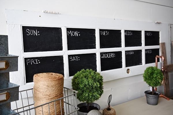 DIY Door Chalkboard Calendar   A Great Chalkboard Calendar Made From An Old  Door. Such