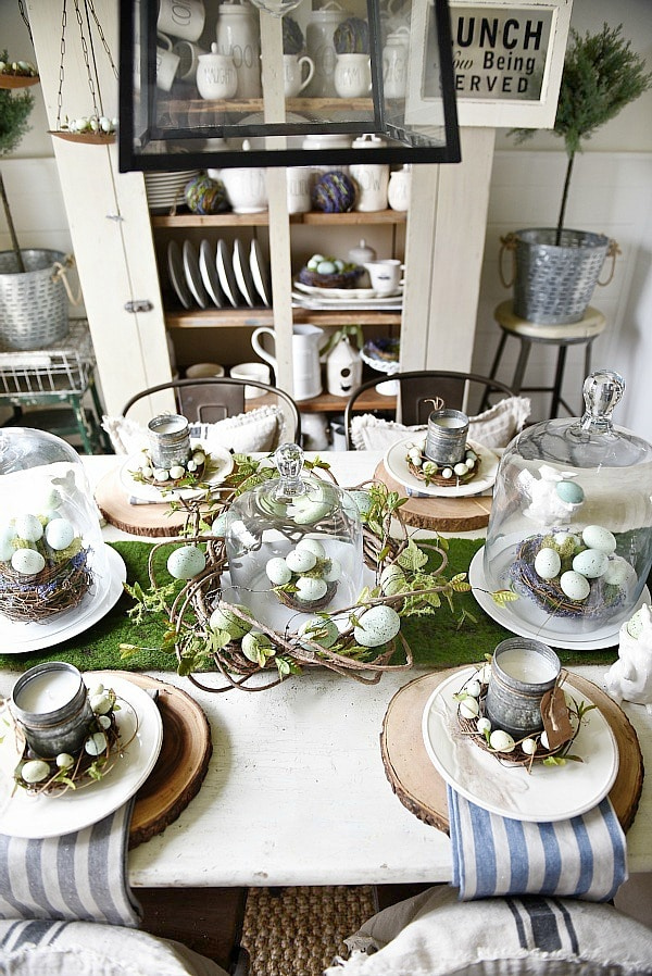 Springy Moss Egg Easter Table Liz Marie Blog
