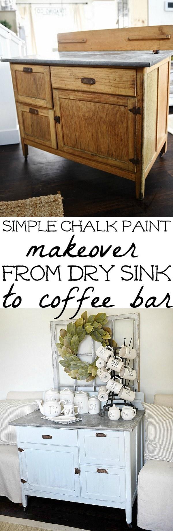 dry sink makeover diy coffee bar