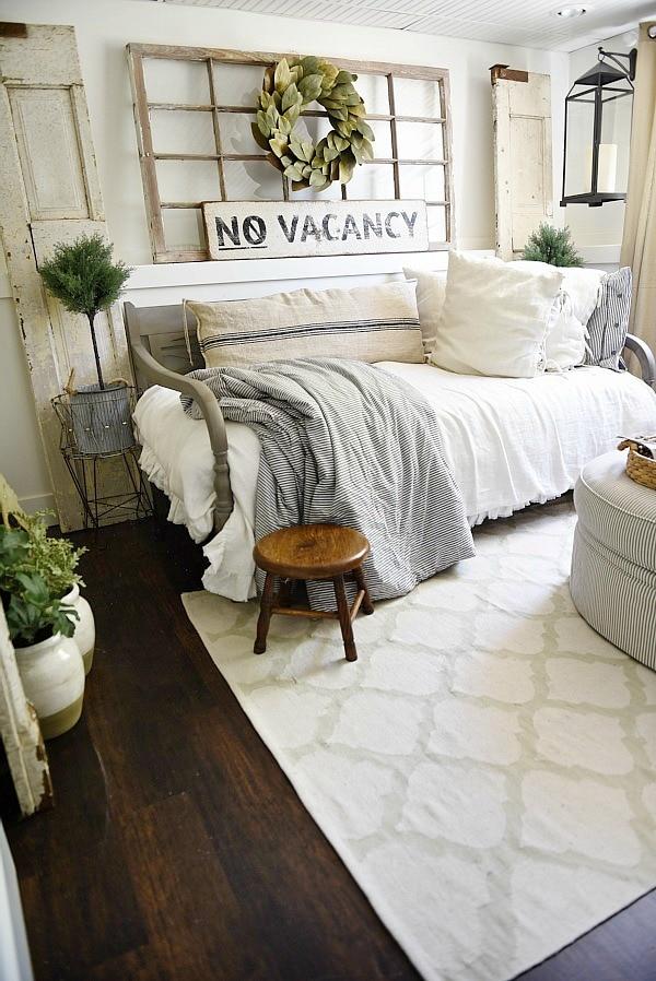 Farmhouse Guest Bedroom Makeover - Liz Marie Blog on Bedroom Farmhouse Decor  id=30391