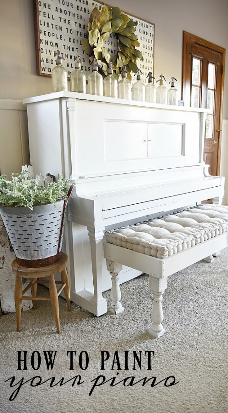 We Painted Our Piano - How To Paint Your Piano - Liz Marie Blog