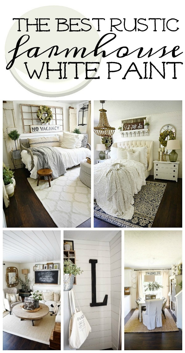 The best rustic farmhouse white paint liz marie blog for Farmhouse paint colors interior