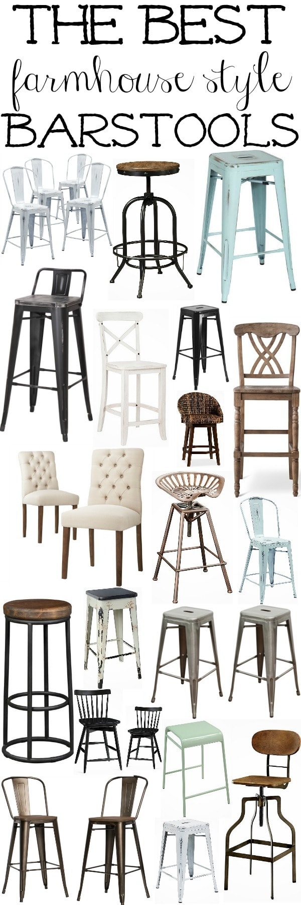 The best farmhouse style barstools - Great source for farmhouse decor for every room of the house!