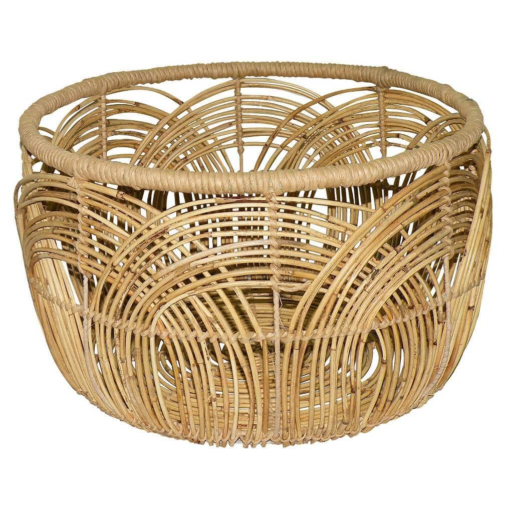 Wicker Coffee Table Target: DIY Basket Coffee Table