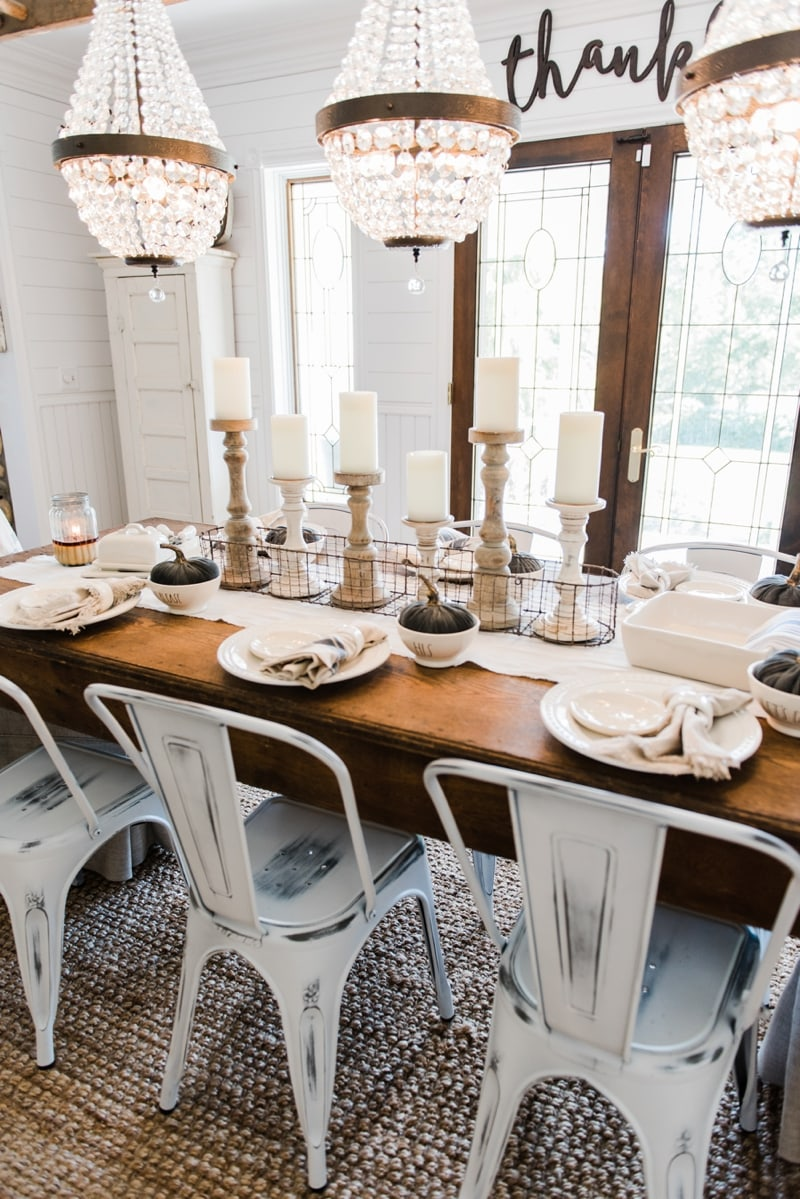 Neutral Rustic Fall Dining Room A Farmhouse Style
