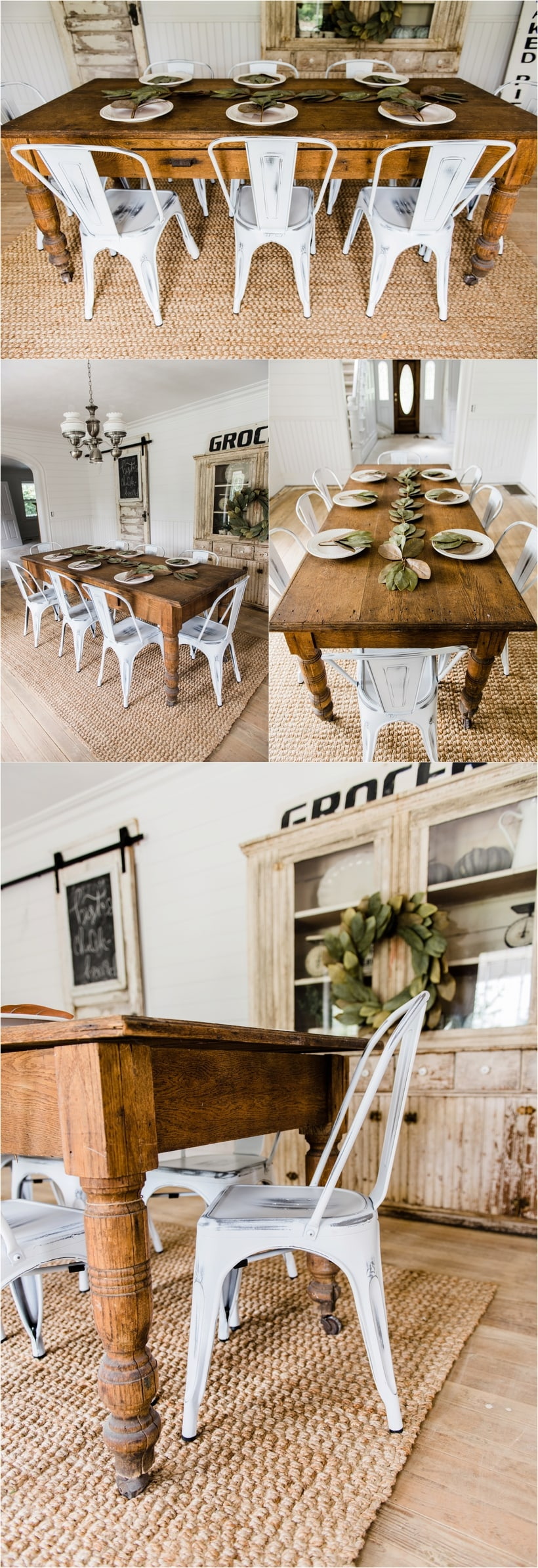 New Farmhouse Dining Chairs - Liz Marie Blog on Farmhouse Dining Room Curtains  id=61703