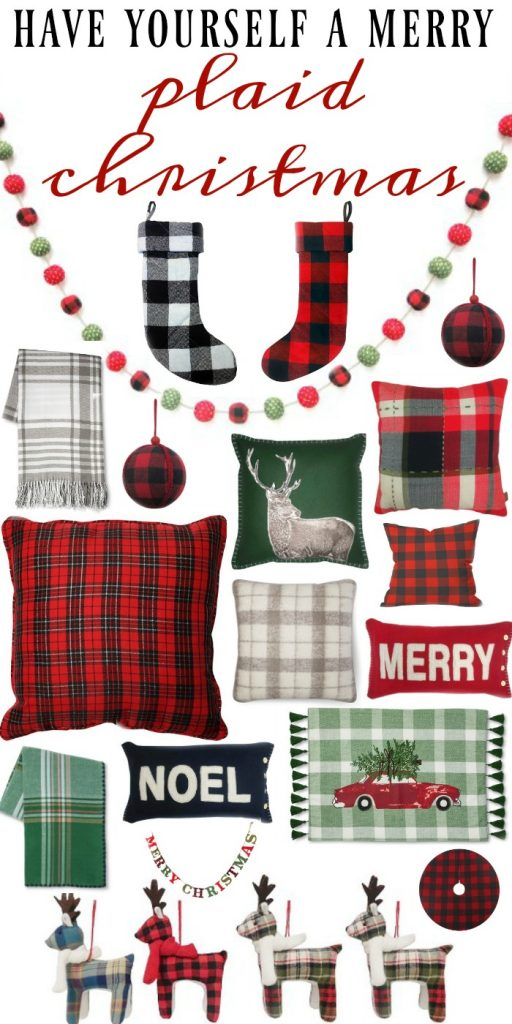 plaid christmas decor all from target cozy plaid christmas decor