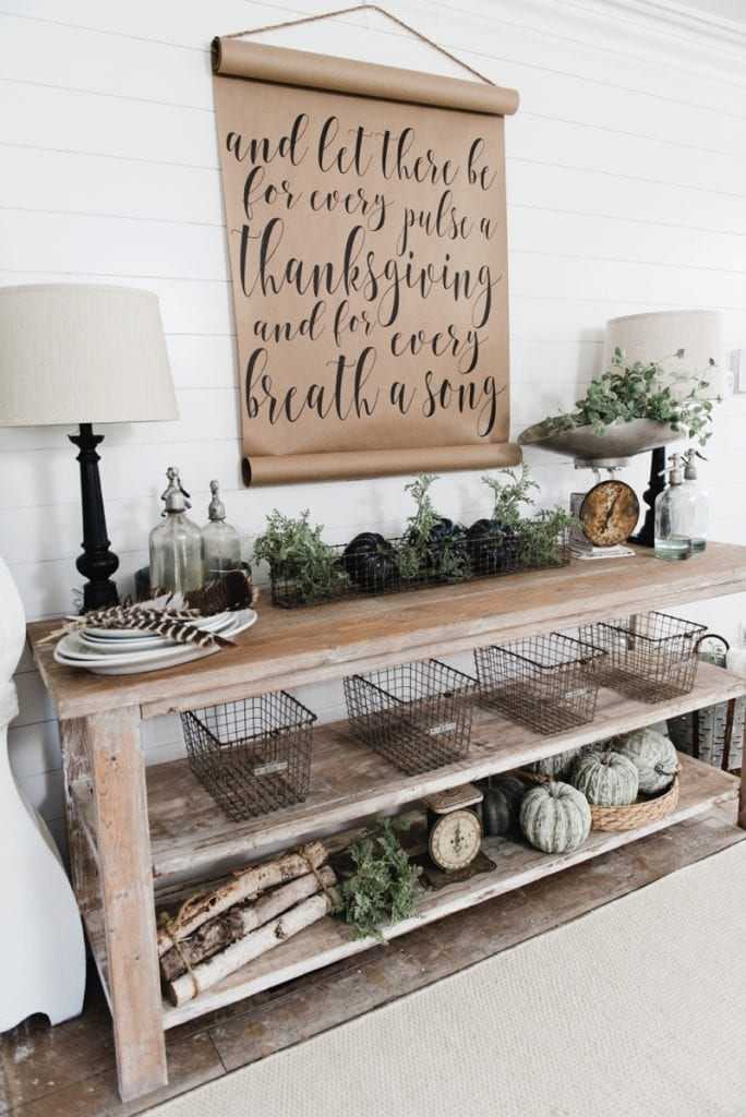 DIY Rustic Small Console Table - Liz Marie Blog