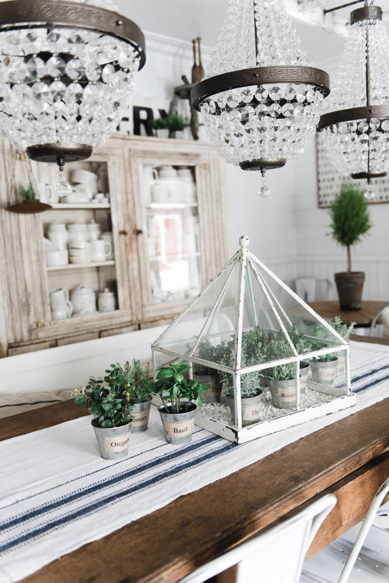 Spring greenery greenhouse centerpiece White Cottage Farmhouse by ...