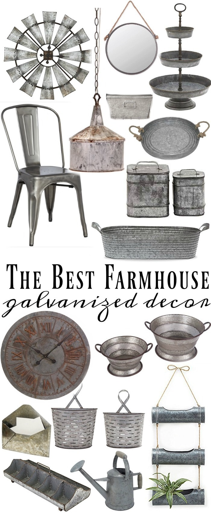 where to find the best galvanized home decor - liz marie blog
