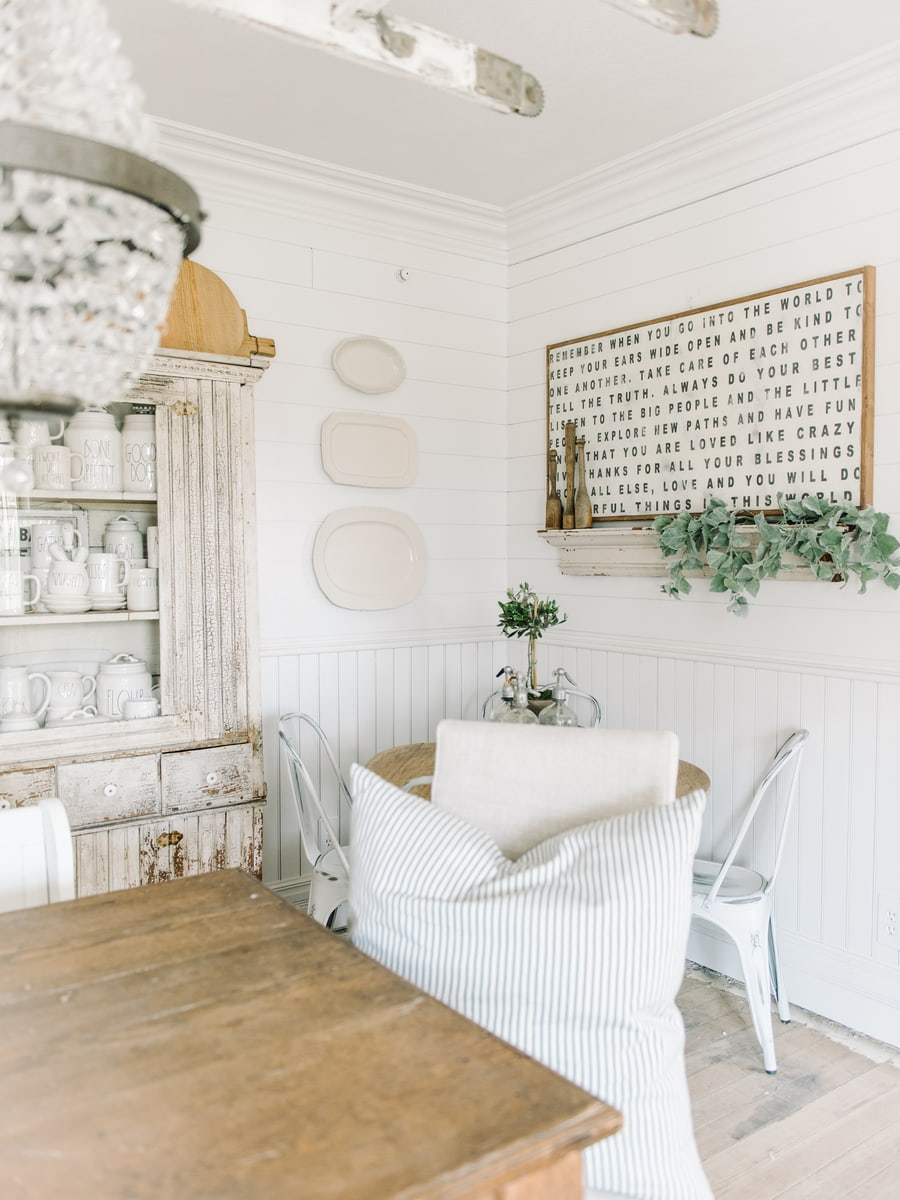 DIY Dining Room Plate Wall - Liz Marie Blog
