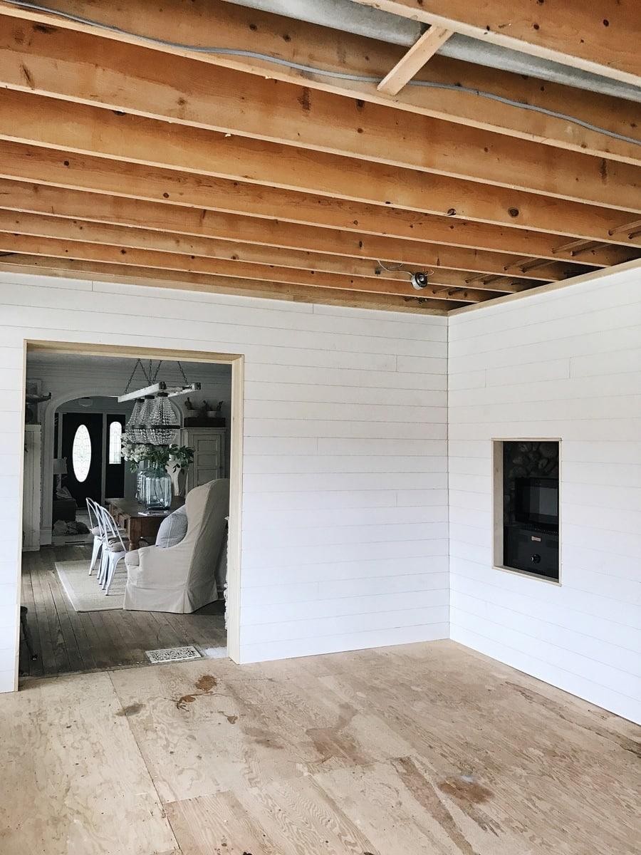 Kitchen Renovation: Shiplap Wall Complete - Liz Marie Blog