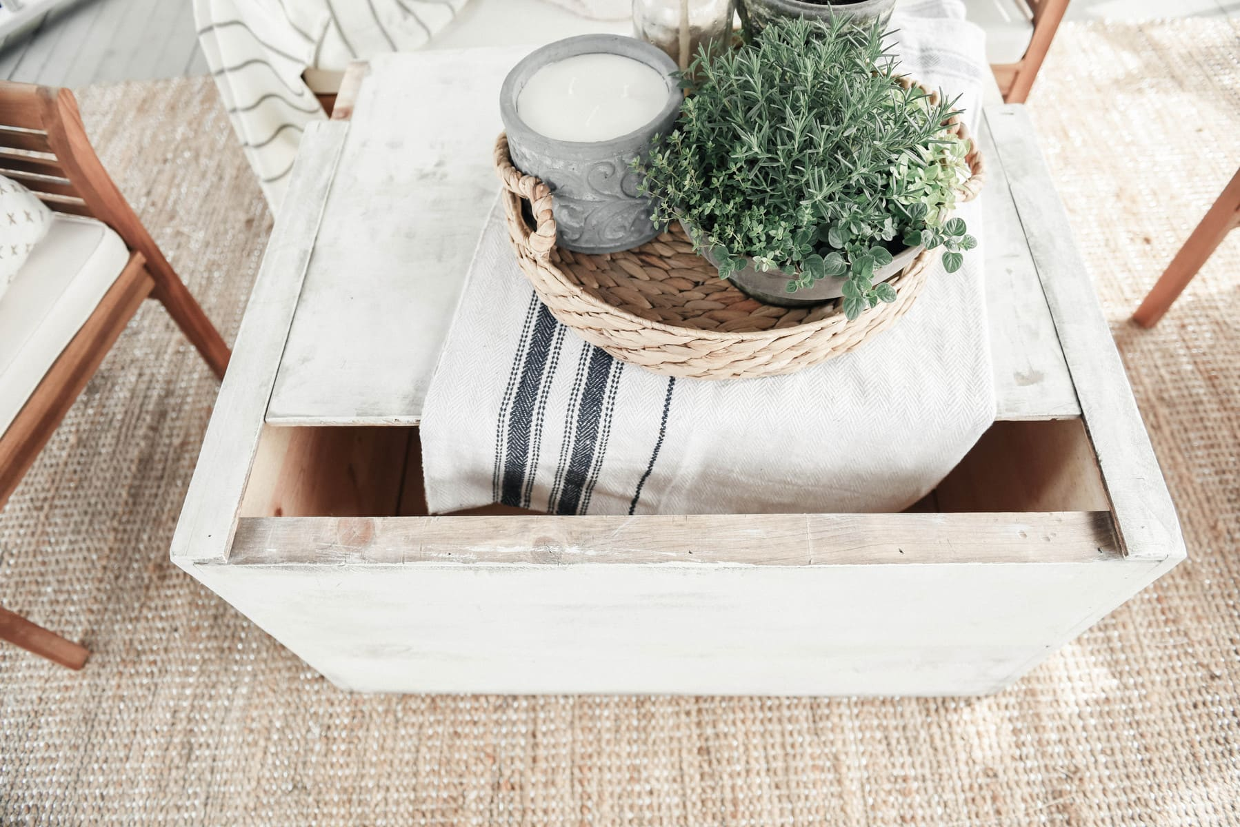 DIY Trunk Coffee Table Liz Marie Blog