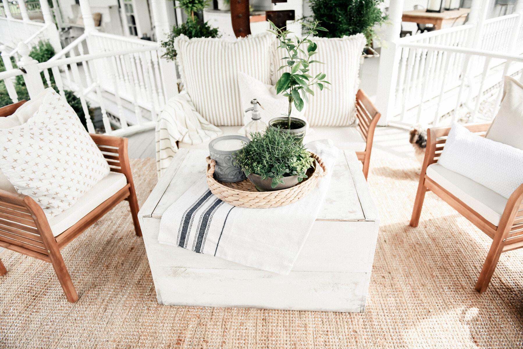 diy trunk coffee table - liz marie blog