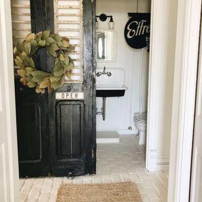 A Door Change In The Half Bath