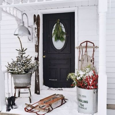 Farmhouse Merry Christmas Stoop