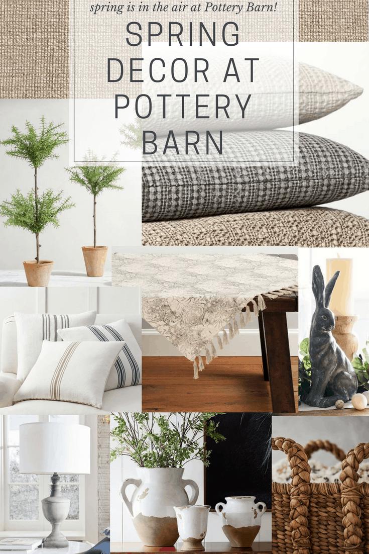Pottery Barn Spring Decor Haul - Liz Marie Blog
