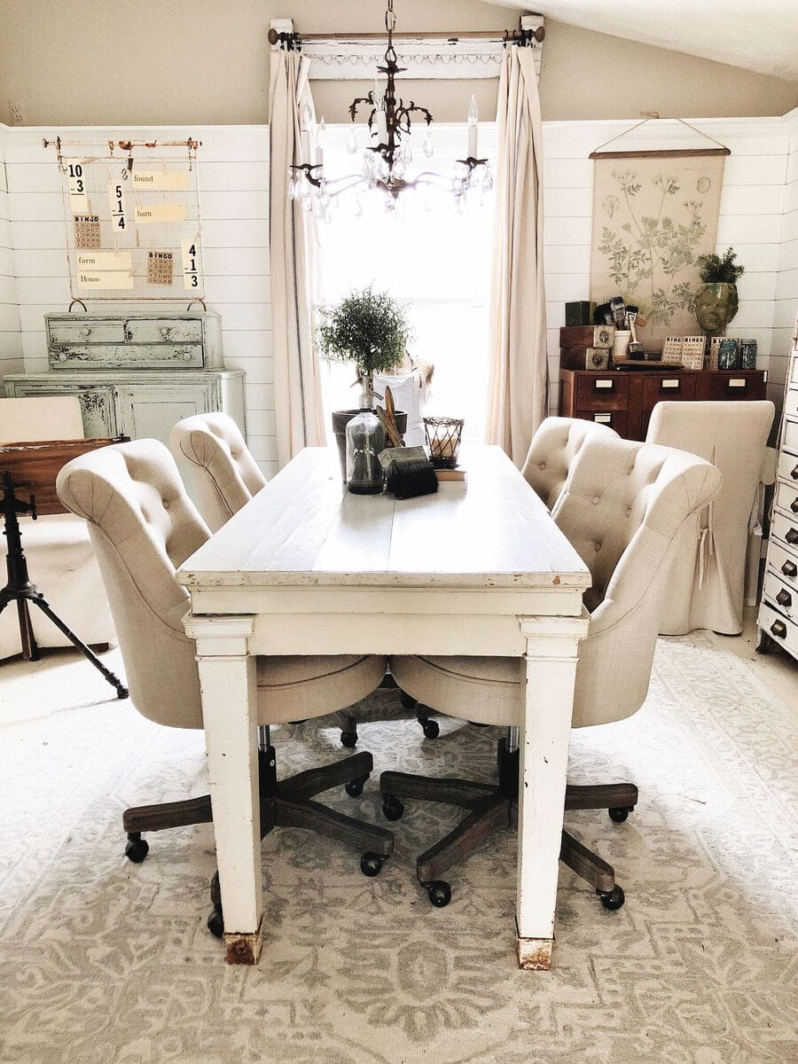 The New Table In The Office - Liz Marie Blog