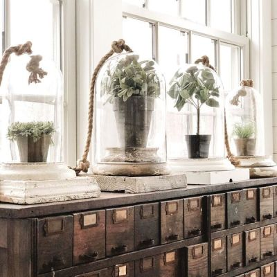 A New Apothecary Cabinet In The Sunroom