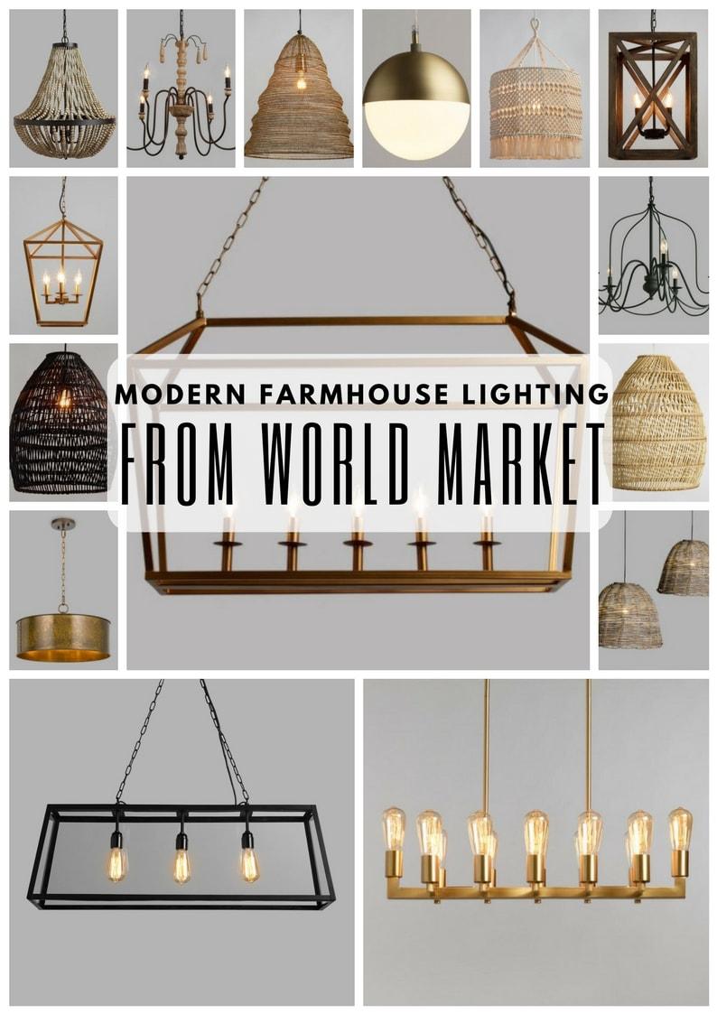 Modern Farmhouse Lighting From World Market. Farmhouse Lighting