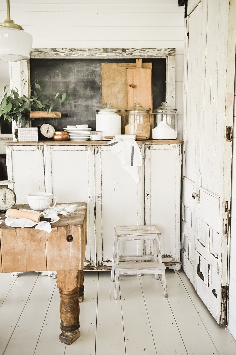 This Little Corner Contains Our Indoor Grill Behind Those Two Chippy  Sliding Doors On The Right, Our Old Butcher Block Counter That Was An  Antique Find, ...