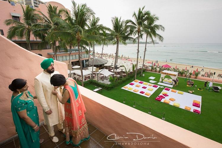 Beach Wedding Background