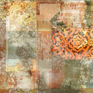 food and shelter: Digital collage © 2014 Liz Ruest