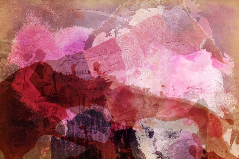 exhaled by dreamers: Digital collage, 10 layers © 2021 Liz Ruest