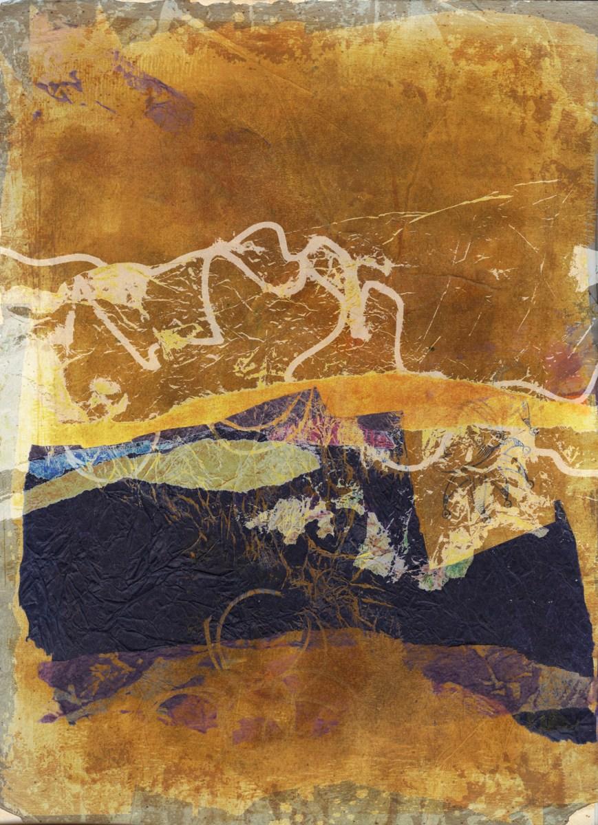 strange skeins of light: Digital collage, 6 layers © 2021 Liz Ruest