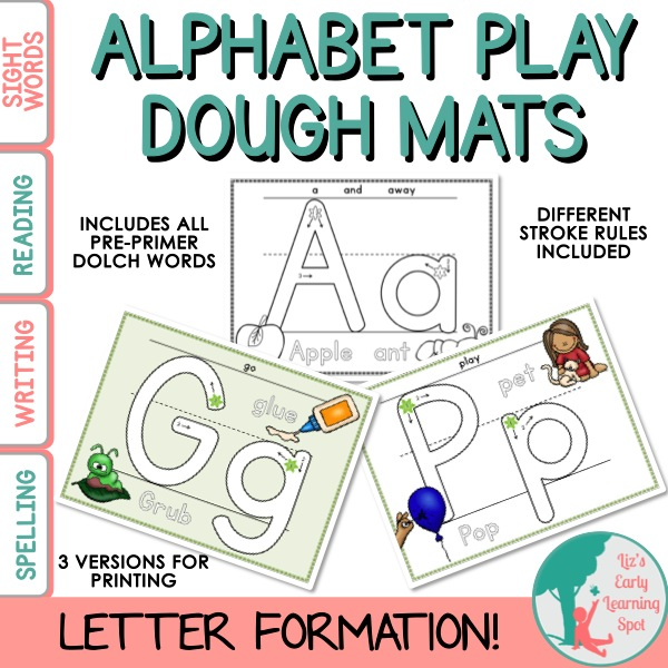 Alphabet Play Dough Mats on Trace The Shapes With Playdough