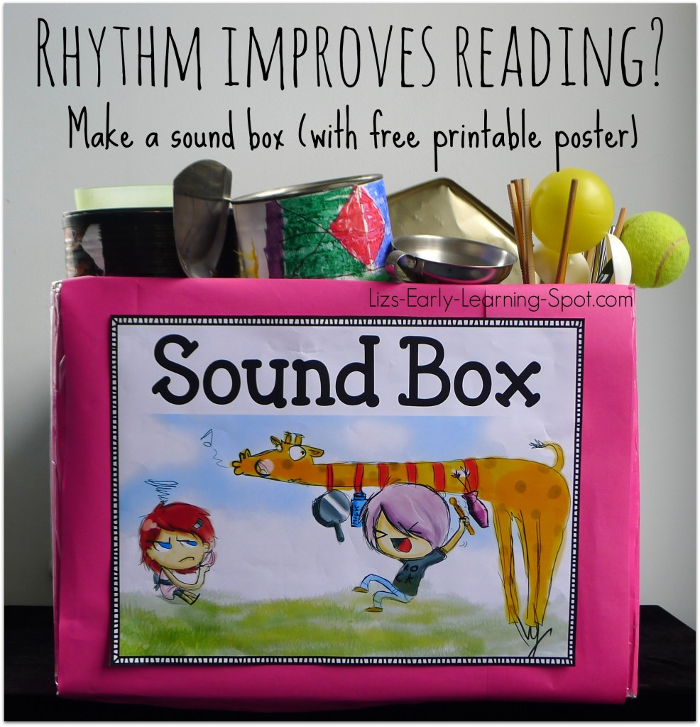 Encouraging good rhythm assists language development and reading skills (Lizs-Early-Learning-Spot.com)