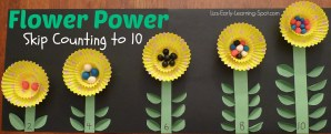 Skip Counting to 10 Flower Craftivity