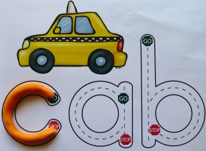 CVC Transport Mats for Play Dough and Driving!