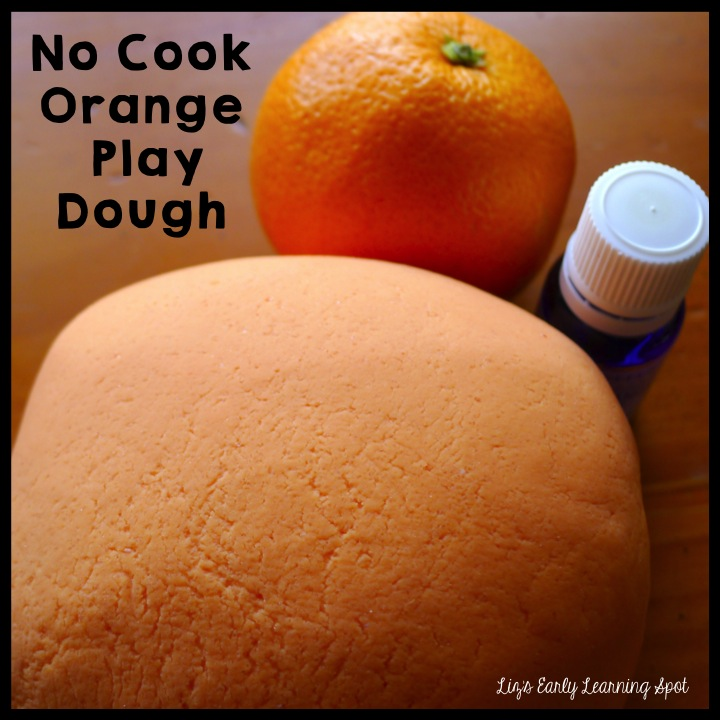 No cook orange play dough (Liz's Early Learning Spot)